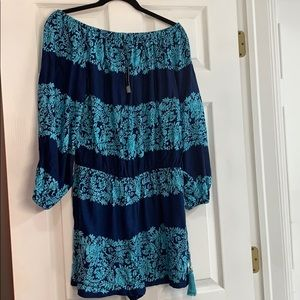 Slagging Dolce Teal & Navy Romper Large